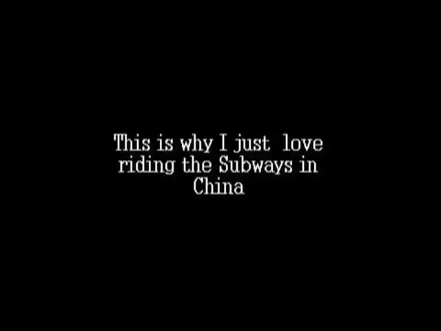 Average Day Riding the Subway in China?