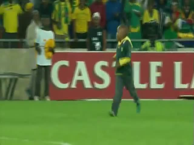 Little Boy Invades Field during Soccer Match