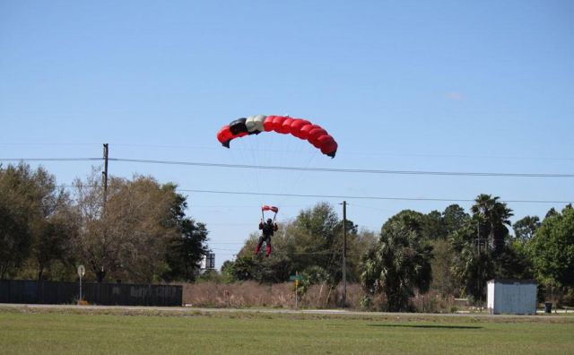 Unlucky Mid-Air Collision between Skydiver and Plane