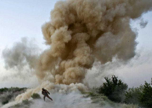 US Marine Survives IED Explosion - Helmet-Cam POV