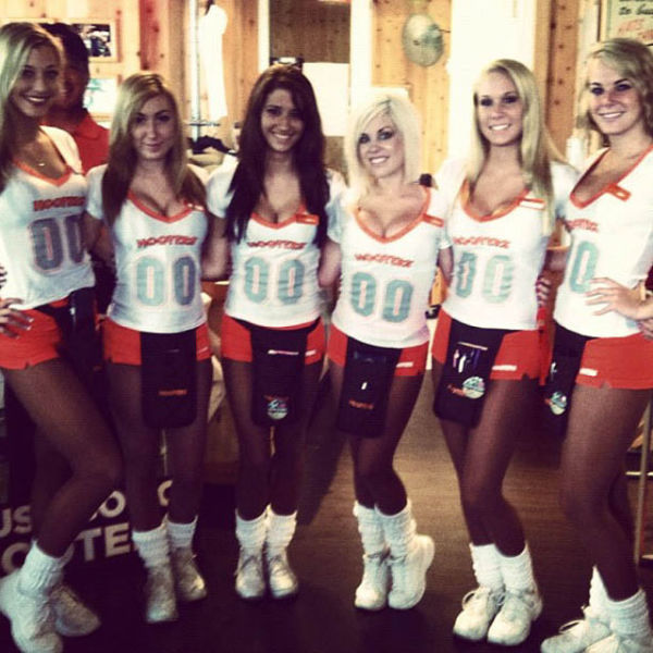 Hot Hooters Girls Have Some Fun During Break Times