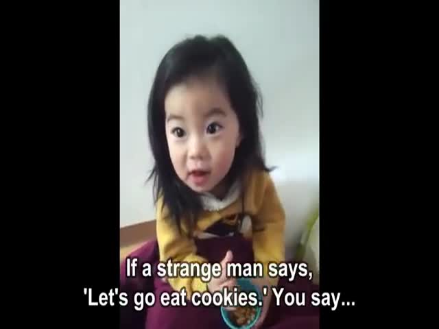 Korean Mom Tries to Teach Her Daughter an Important Life Lesson  (VIDEO)