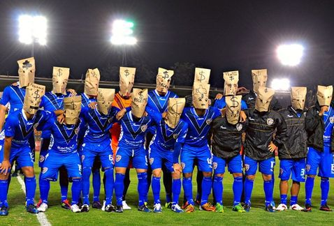 This is how a Soccer Team is on Strike