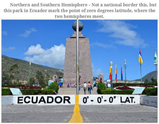 Interesting Border Posts from Various Places in the World