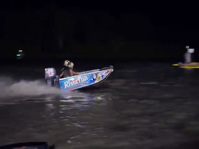 Racing Tinnies at Full Throttle through Tree Infested Rivers in Australia