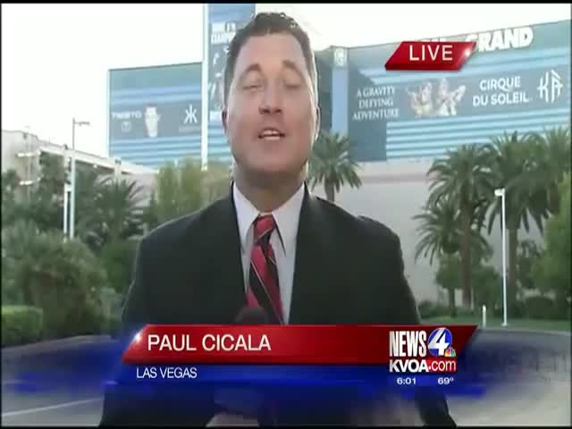 Sports Reporter in a Hurry Miserably Fails on Live TV