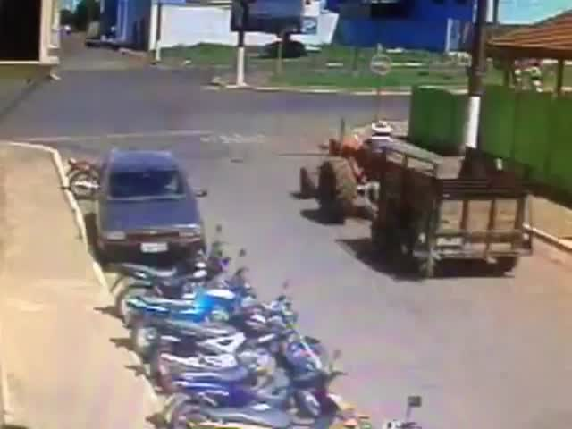 This Tractor Driver Has the Worst Luck Ever!  (VIDEO)