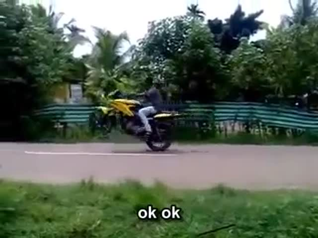 Wheelie Goes Wrong but Not in the Way You'd Think