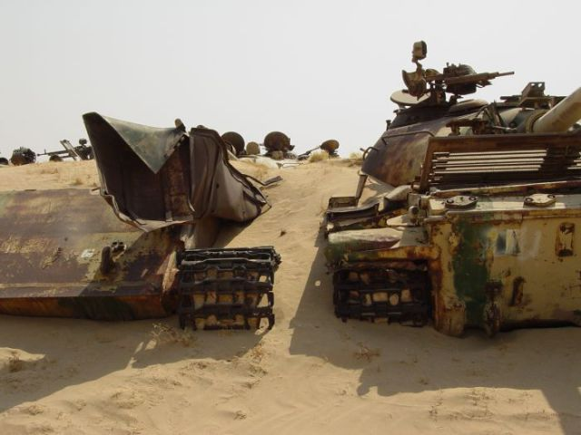 A Mass Graveyard of Tanks in Kuwait