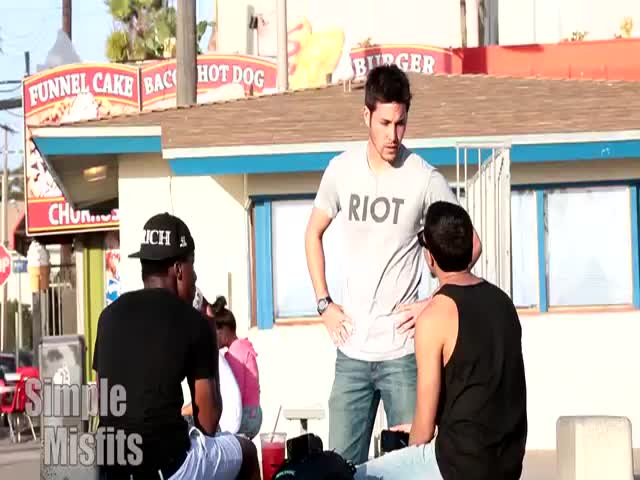 'Kiss My Ass Prank': Dude Ends Up Getting Knocked Out  (VIDEO)