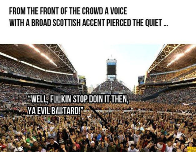 Witty Bono Fan Owns the Star at Concert in Scotland
