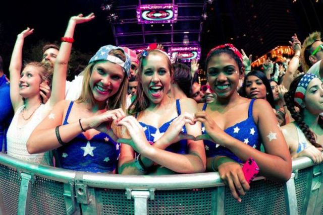 Many Beautiful Babes from the Ultra Music Festival