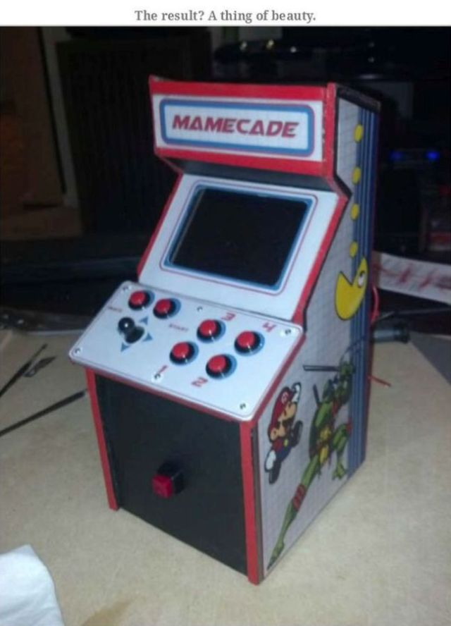 This Fantastic Self-Made Mini Arcade Game Rocks!