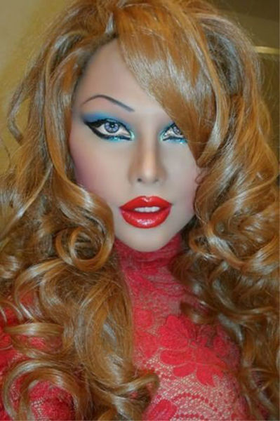 A Transsexual Who Has Spent a Fortune on Looking Like a Sex Doll