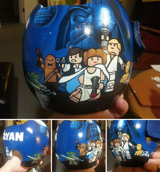 Baby Helmets Transformed with Creative Painting