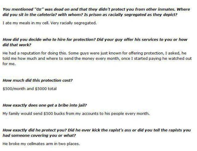 One Prison Rape Victim's Hard-Hitting Interview Responses