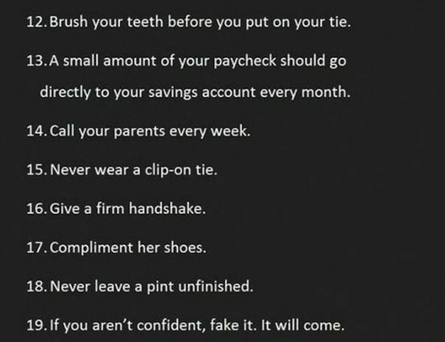 Great Advices Everyone Should Take to Heart