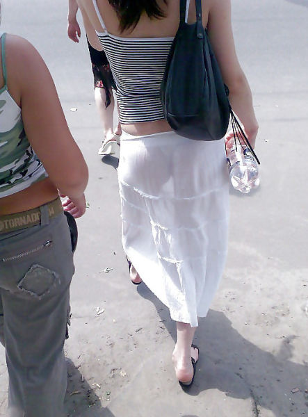Milf white see thru leggings