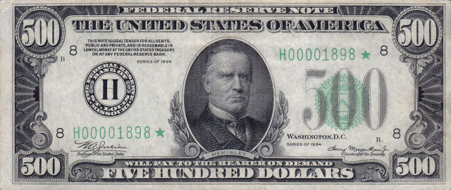 Five Large U.S. Dollar Bills That Aren't Printed Anymore
