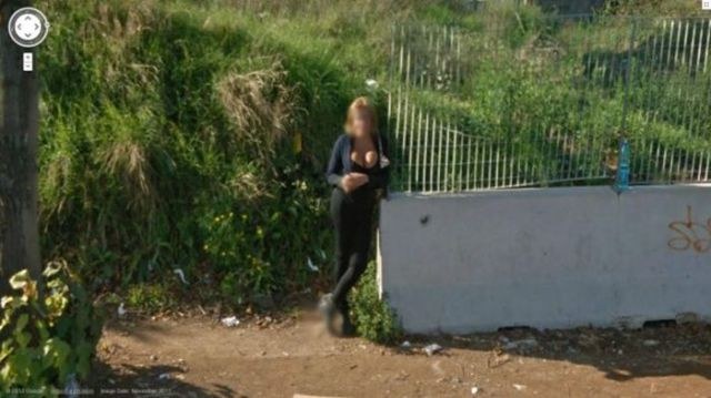 Sexy Ladies Get Caught on Google Street View