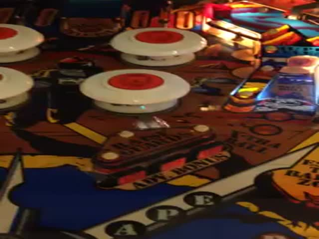 Pinball Stuck Perfectly between Bumper and Kicker