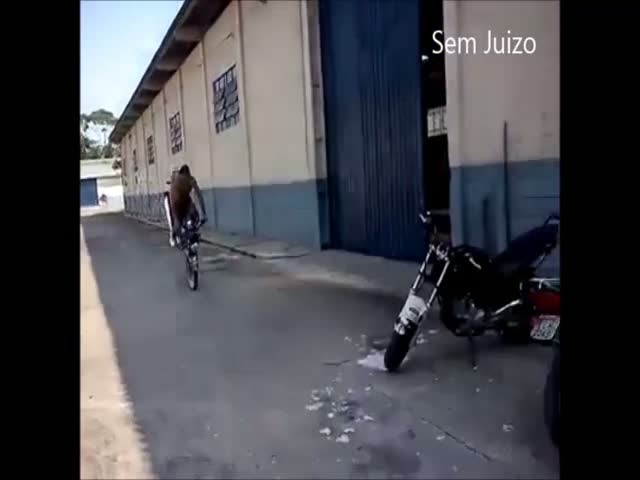Parking a Motorcycle like a Boss