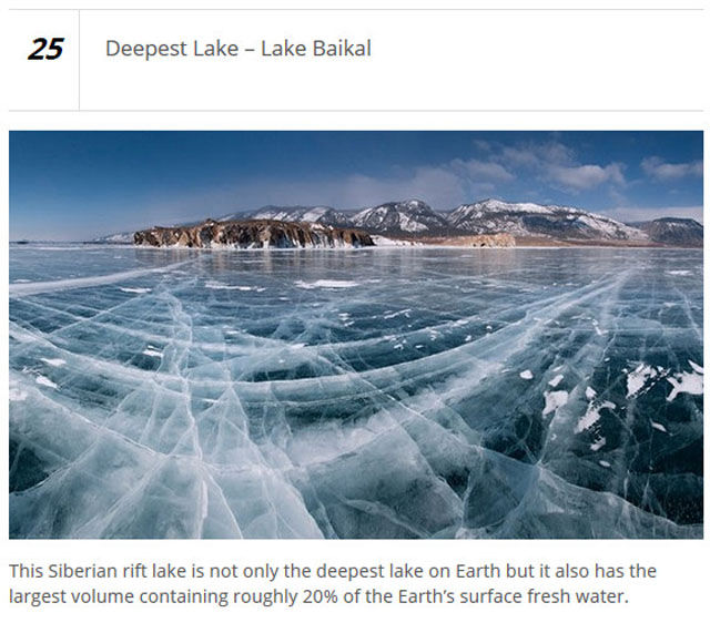 Extreme Places on Planet Earth