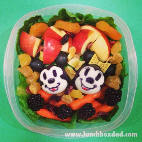 Dad's Quirky and Creative Lunches for His Kid