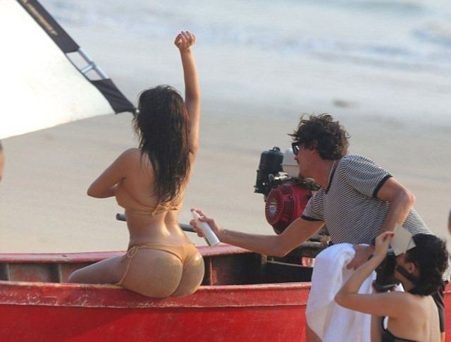 Kim Kardashian's Butt Is Centre Stage in Beach Photoshoot