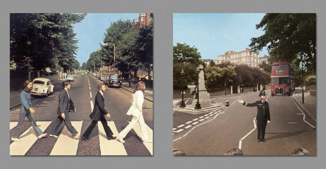 Back and Front Views of Original and Quirky Album Covers