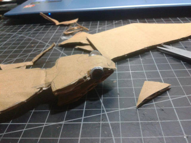Lifelike Bearded Dragon Made out of Cardboard
