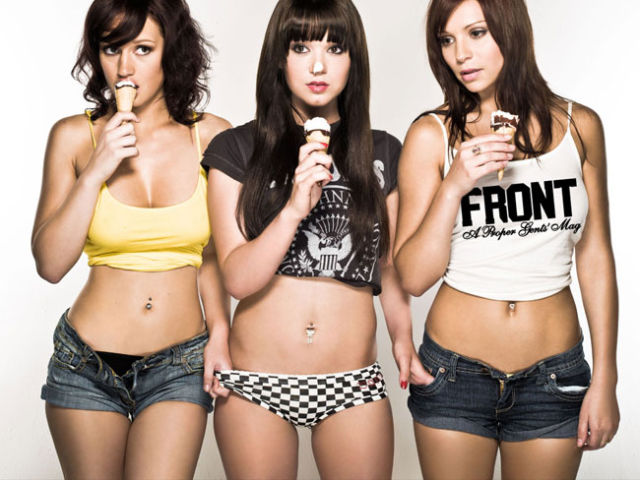 Babes Looking Hot While Eating Ice Cream