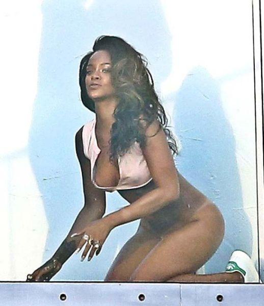 Rihanna's Raunchy Ass-Bearing Photoshoot