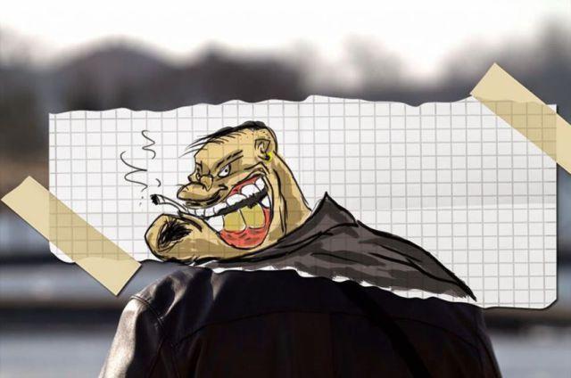 Cartoon Drawings Give Boring Photos a Comedic Makeover