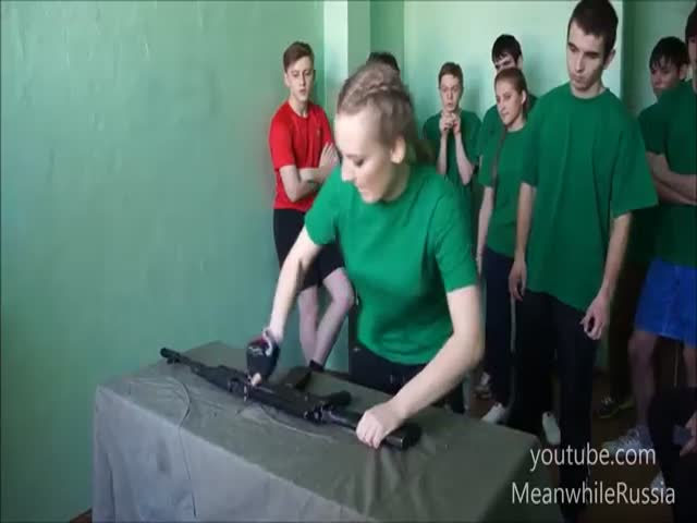 Meanwhile, in Russia: Kids Assemble & Disassemble an AK-47 at School