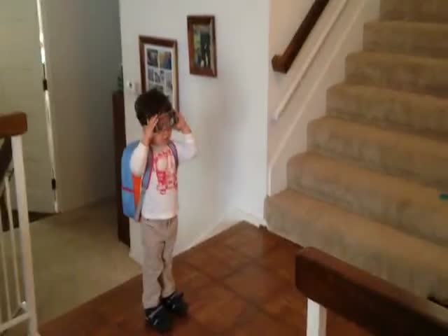 Action Movie Kid Goes to School