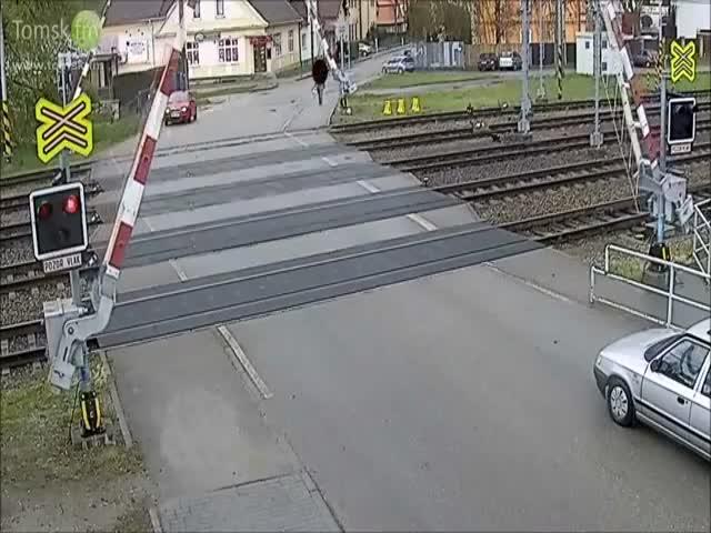 A Near Fatal Fail at Railway Crossing
