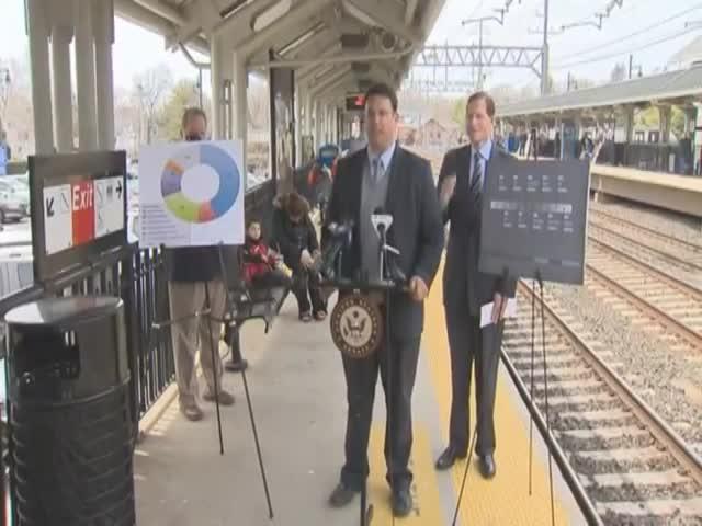 Senator Has an Ironic Near-Miss with Train
