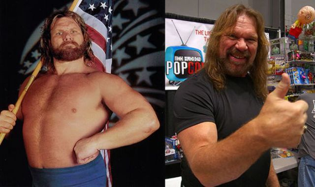 Pro Wrestlers Then and Now
