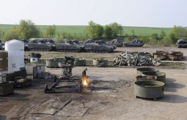 The Burial Ground of Army Tanks