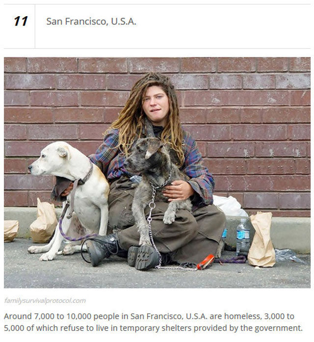 The Cities with the Highest Numbers of Homeless People