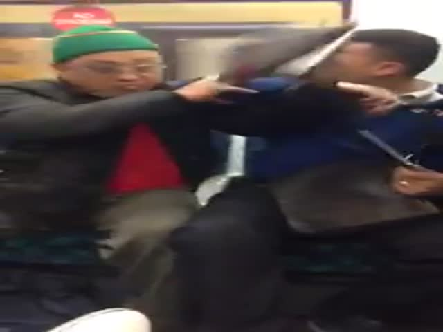 Old Man Punches Guy in the Balls, Gets More Than he Asked For