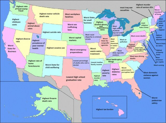 USA Maps with an Interesting Twist