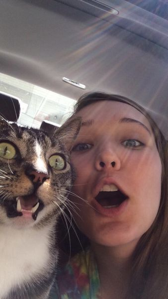 Selfies That Were Timed Brilliantly