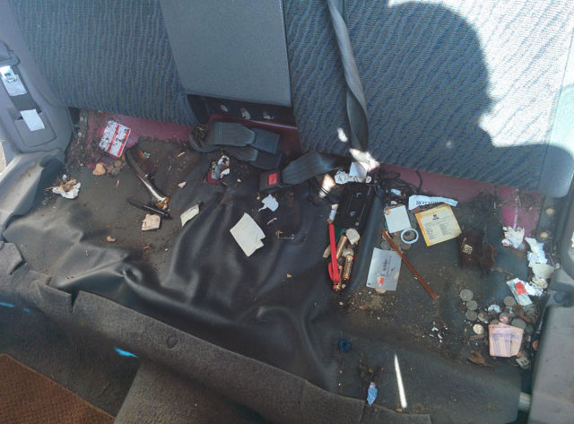 14 Years of Lost Items under a Car Seat