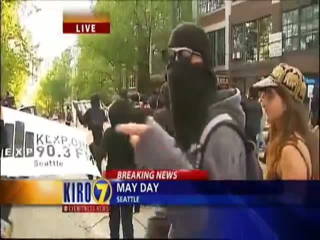 Wannabe Anarchists Don't Know Why They're Protesting  (VIDEO)