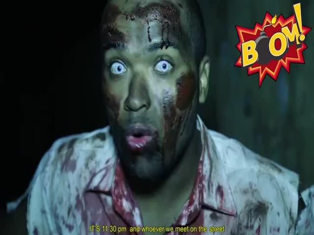 Brazilian Zombie Attack Scare Prank