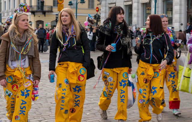 Finnish Students Party Up a Storm in the City