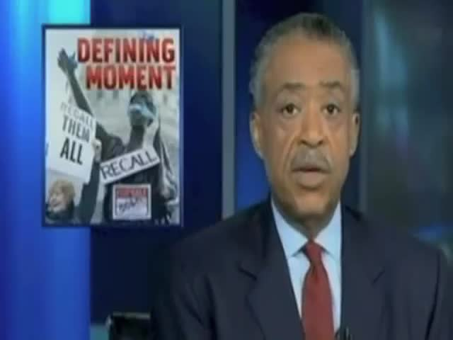 Al Sharpton vs the Teleprompter