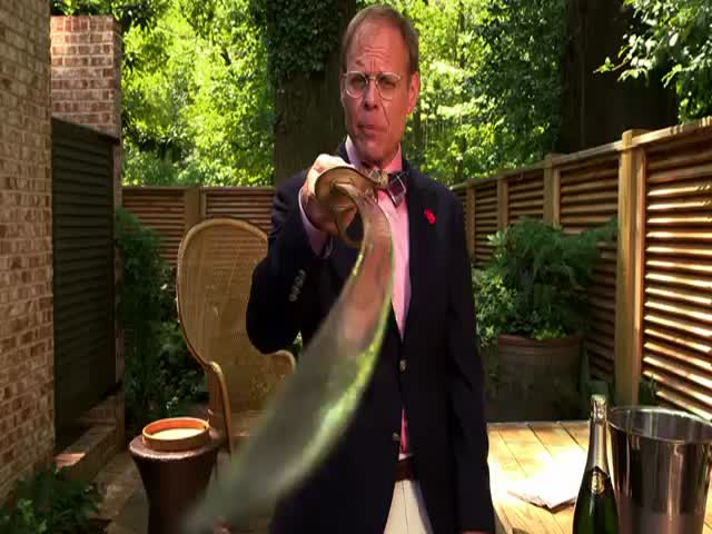 How to Saber a Champagne Bottle  (VIDEO)